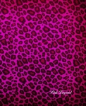 cahier moyen pink leopard